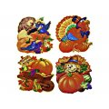 "Window Cling Decorations - ""Harvest Cornucopia"" - 4 Piece Set"