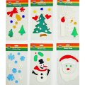 Christmas Window Clings - 6pk of Holiday Gel Art