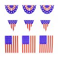 White Plastic USA Banner Set